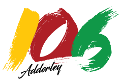 Yellow, red, green and white logo