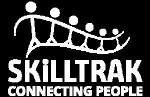 White Skilltrak logo