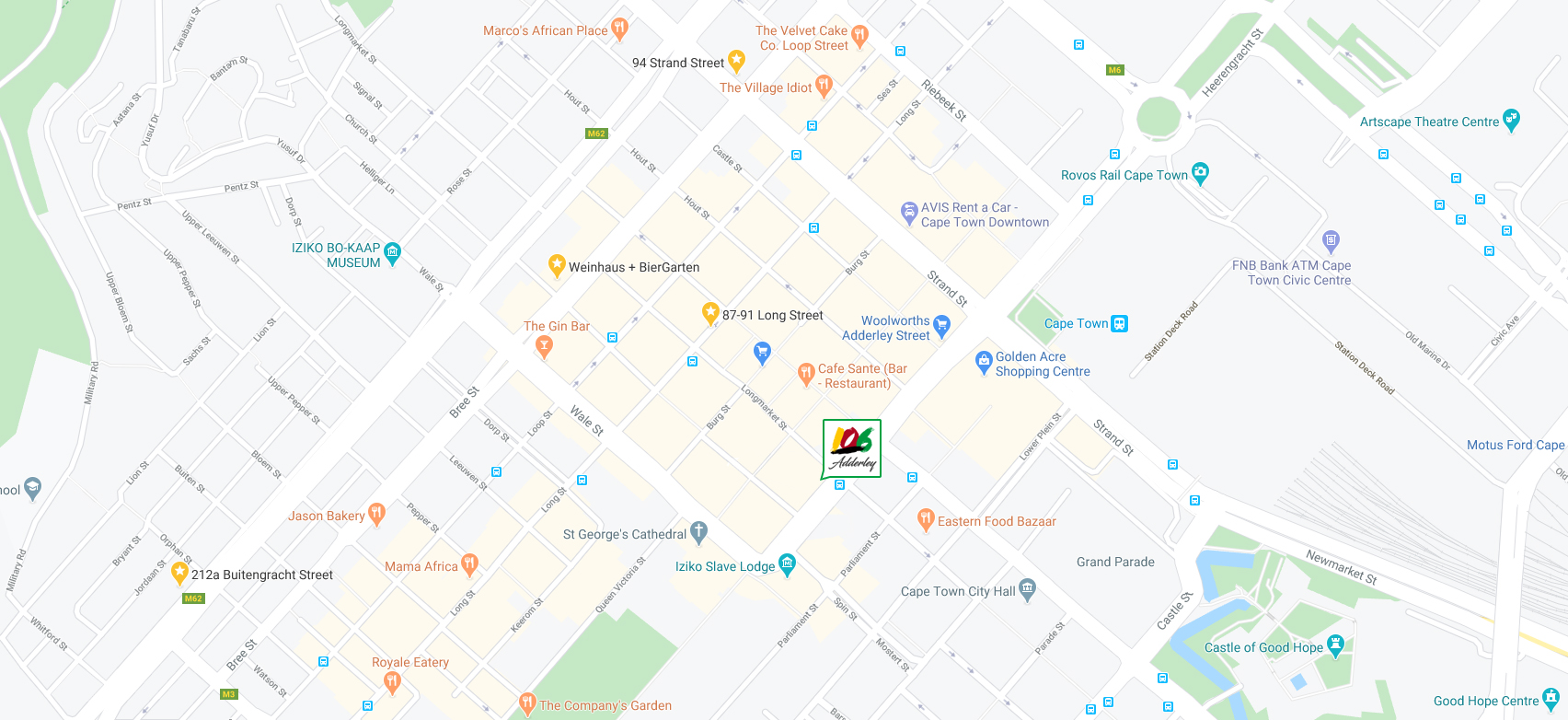 Road map of hotel location