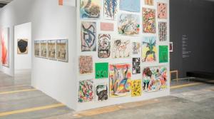 Art gallery on white walls