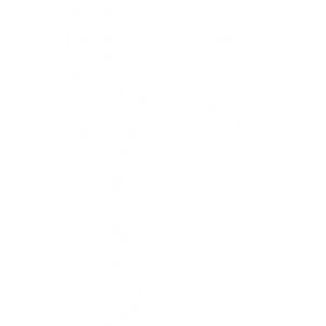White knife and fork icon